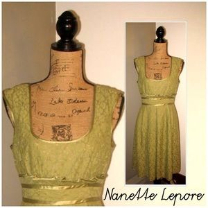 Gently Worn NANETTE LEPORE Size 12 Lace Dress.